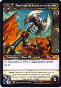 warcraft tcg worldbreaker foreign bloodied arcanite reaper french