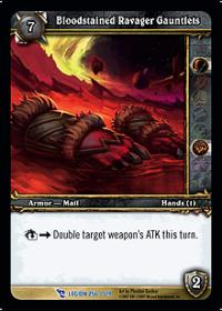 warcraft tcg march of legion bloodstained ravager gauntlets