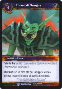 warcraft tcg throne of the tides italian bloodsurge italian