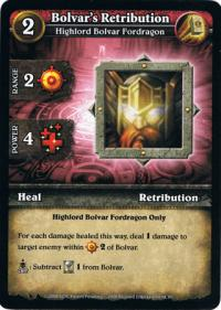 wow minis core action cards bolvar s retribution