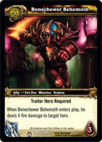 warcraft tcg black temple bonechewer behemoth