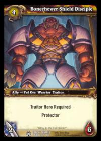 warcraft tcg black temple bonechewer shield disciple