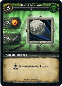wow minis core action cards boulder toss