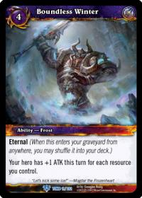 warcraft tcg tomb of the forgotten boundless winter