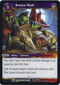 warcraft tcg caverns of time brazen theft