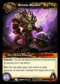 warcraft tcg war of the elements bronze warden