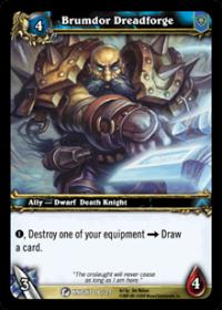 warcraft tcg death knight starter brumdor dreadforge