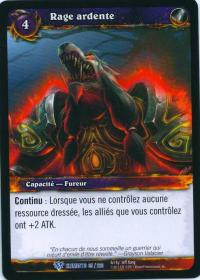 warcraft tcg war of the elements french burning rare french