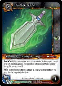 warcraft tcg dungeon deck treasure buzzer blade