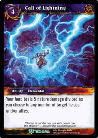 warcraft tcg tomb of the forgotten call of lightning