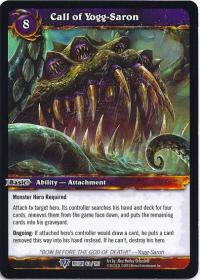 warcraft tcg reign of fire call of yogg saron