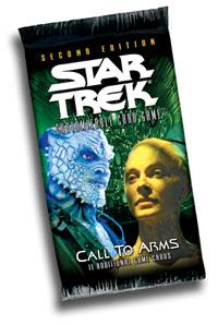 star trek 2e star trek 2e sealed product call to arms booster pack