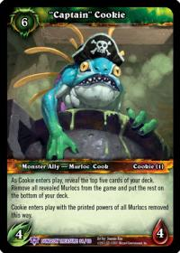 warcraft tcg dungeon deck treasure captain cookie