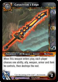 warcraft tcg caverns of time cataclysm s edge