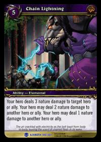 warcraft tcg heroes of azeroth chain lightning