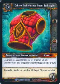 warcraft tcg war of the elements french champion 39s deathdealer brestplate french