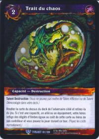 warcraft tcg twilight of dragons foreign chaos bolt french