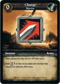wow minis core action cards charge