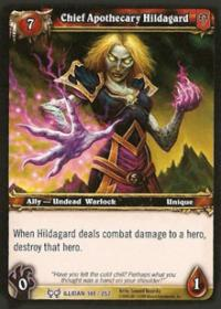 warcraft tcg the hunt for illidan chief apothecary hildagard