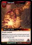 warcraft tcg foil hero cards cho gall