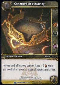 warcraft tcg naxxramas cincture of polarity