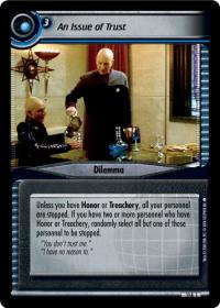 star trek 2e captains log an issue of trust foil