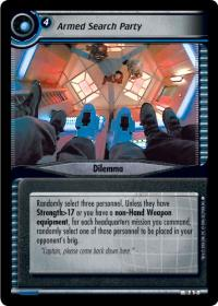 star trek 2e captains log armed search party foil
