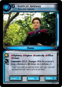 star trek 2e captains log kathryn janeway forceful captain foil
