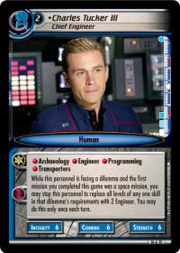 star trek 2e captains log charles tucker iii chief engineer foil