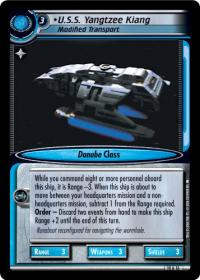 star trek 2e captains log u s s yangtzee kiang foil