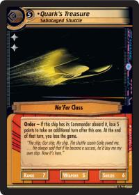 star trek 2e captains log quark s treasure sabotaged shuttle foil