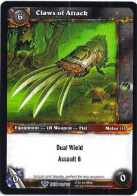 warcraft tcg reign of fire claws of attack