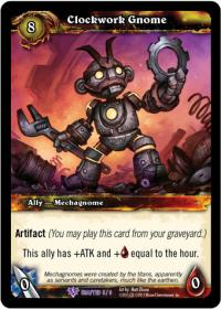 warcraft tcg crafted cards clockwork gnome
