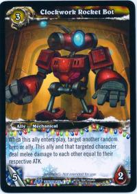 warcraft tcg feast of winter veil 12 clockwork rocket bot