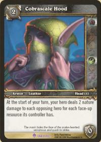 warcraft tcg crafted cards cobrascale hood