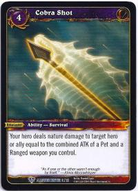 warcraft tcg class decks 2011 spring cobra shot cd