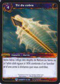 warcraft tcg war of the elements french cobra shot french