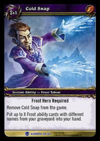 warcraft tcg heroes of azeroth cold snap