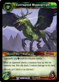 warcraft tcg crown of the heavens corrupted hippogryph