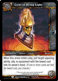 warcraft tcg battle of aspects cowl of dying light