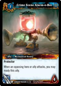 warcraft tcg dungeon deck treasure crime scene alarm o bot