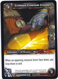 warcraft tcg class deck 2013 spring crimson cranium crusher cd