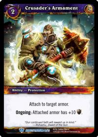 warcraft tcg battle of aspects crusader s armament