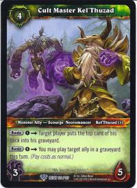 warcraft tcg reign of fire cult master kel thuzad