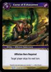 warcraft tcg the hunt for illidan curse of exhaustion