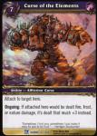 warcraft tcg fields of honor curse of the elements