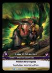 warcraft tcg extended art curse of exhaustion ea