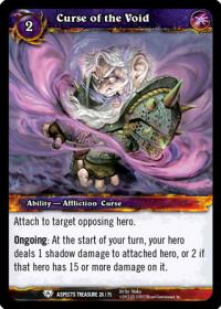 warcraft tcg battle of aspects curse of the void