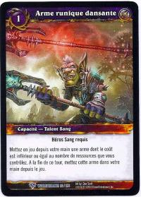 warcraft tcg worldbreaker foreign dancine rune weapon french