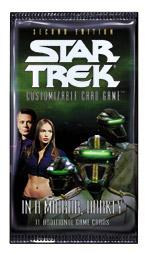 star trek 2e star trek 2e sealed product in a mirror darkly booster pack